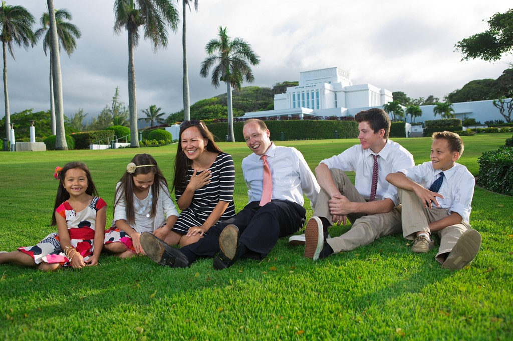 Laie Temple Family Portrait