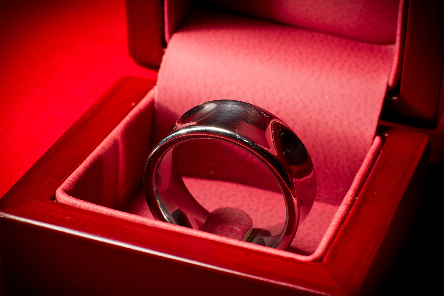 Wedding band for groom