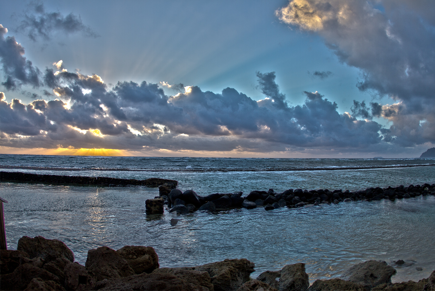 Hawaiian HDR sunrise