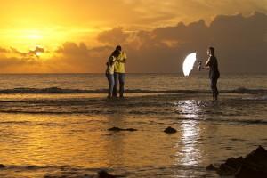 Hawaiian Sunset engagement photos