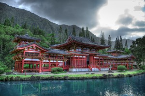 Valley of the Temples, Byodo-In temple.