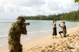 Camouflage engagement photography