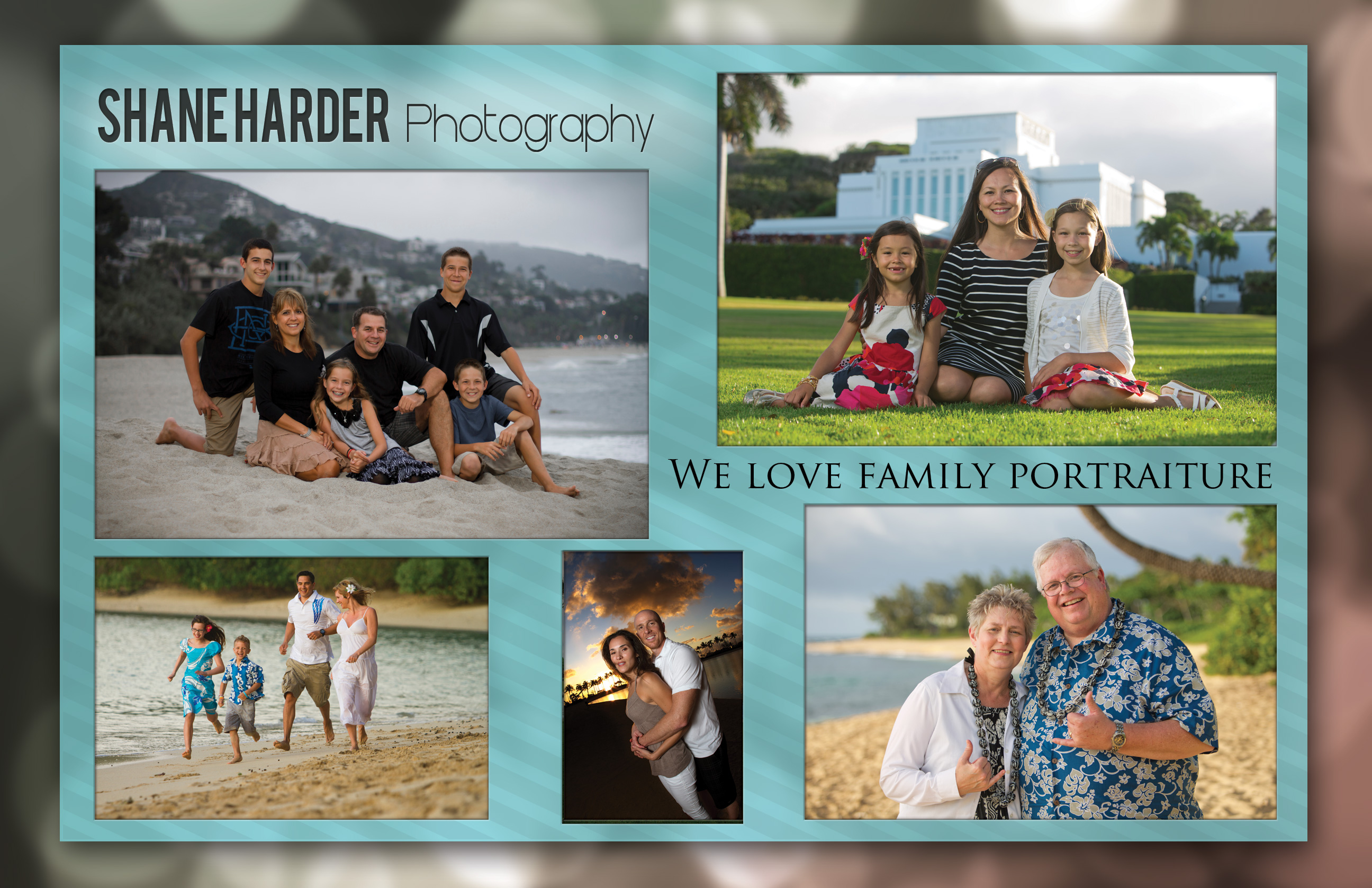 Photography portrait brochure