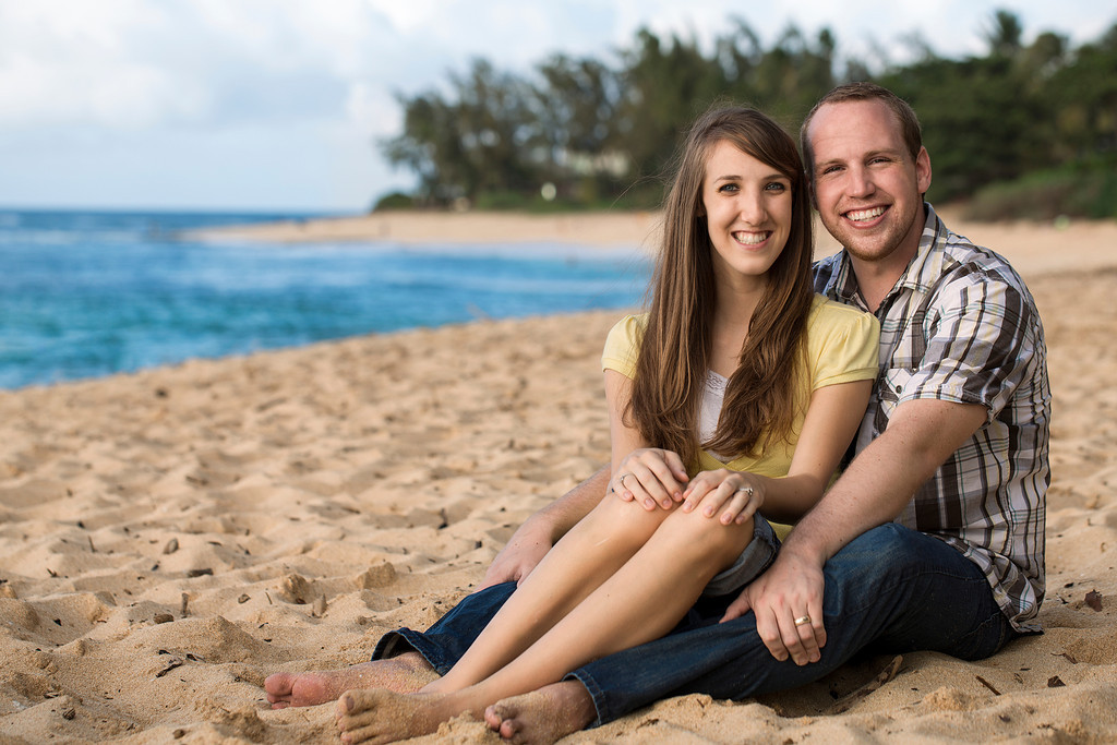 Family Portraits at Sunset Beach, Oahu, Hawaii