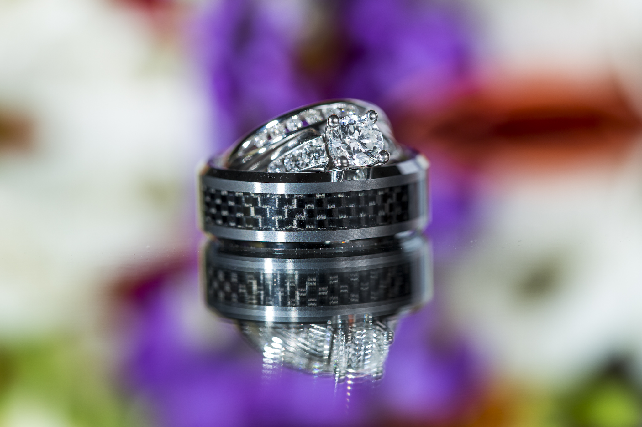 Hawaiian Wedding Ring set