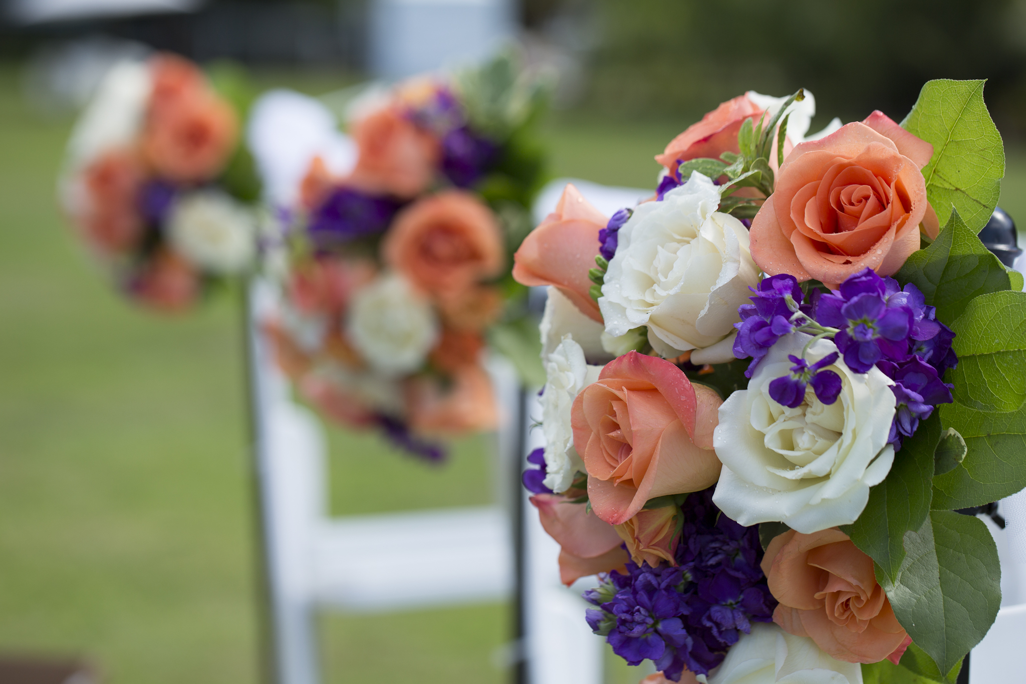Flowers at the wedding ceremony