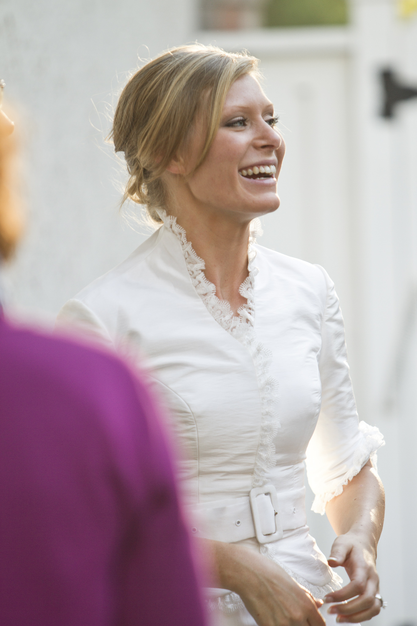 Candid bride shot
