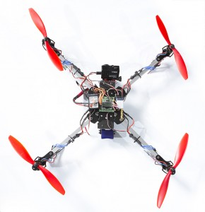 Quadcopter I built from above.
